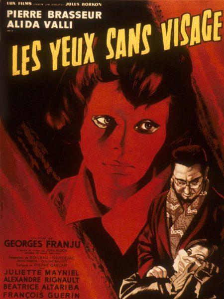 Poster for 1960 French film Les Yeux sans visage