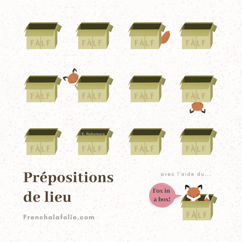 Banner for Post Prépositions de lieu