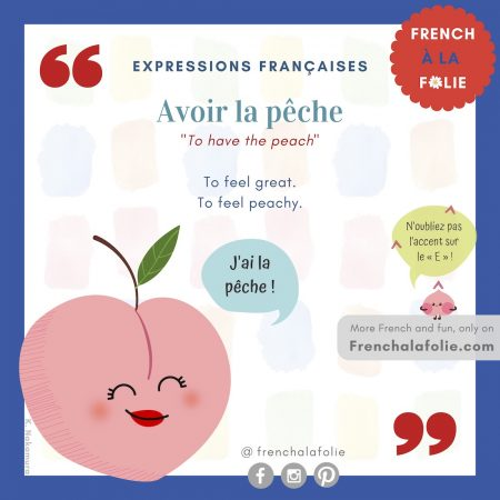 Visual Lesson of French Expression Avoir la pêche
