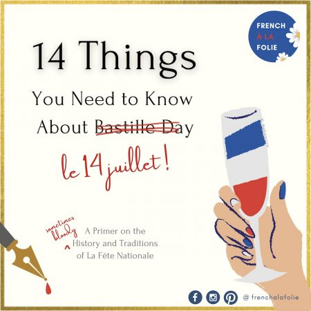 Banner for post on 14 facts about le 14 juillet